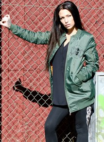 eXc Long Bomber Jacket, Army