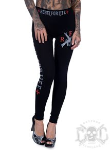 Rebel For Life R F L Leggings