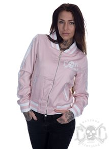 eXc Striped Skull Jacket, Rosa