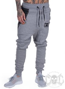 eXc Zipped Black N Grey Sweatpants
